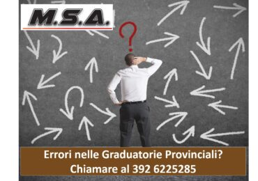 Errori nelle Graduatorie Provinciali: cosa fare?