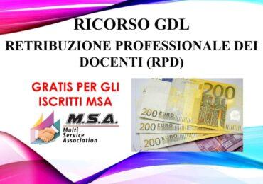 RICORSO AL GIUDICE DEL LAVORO RETRIBUZIONE PROFESSIONALE DEI DOCENTI (RPD) e/o CIA